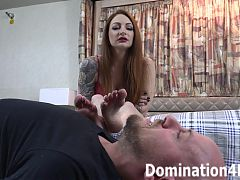 Foot domination with mistress olivia rose